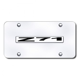 Autogold® - Z71 Logo on Chrome License Plate
