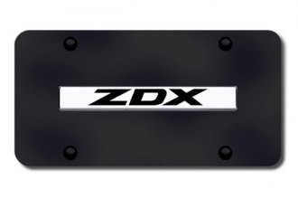 Autogold® - ZDX Logo on Black License Plate
