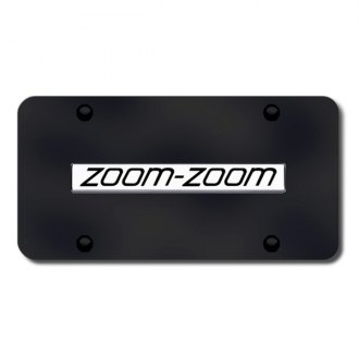 Autogold® - Zoom-Zoom Logo on Black License Plate