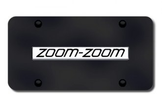 Autogold® - Zoom Zoom Logo on Black License Plate