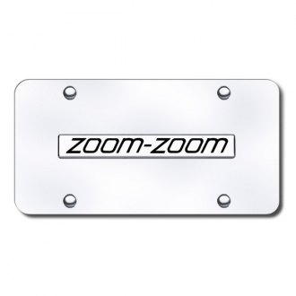 Autogold® - 3D Chrome Zoom Zoom Logo on Chrome License Plate
