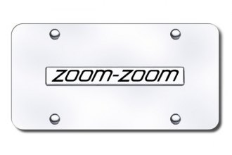 Autogold® - Zoom Zoom Logo on Chrome License Plate