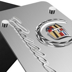 AutoGold® - 3D Chrome Cadillac Logo on License Plate