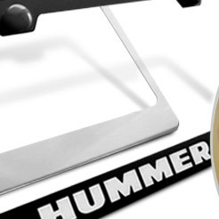 AutoGold® - Hummer H2 Logo on Black License Plate