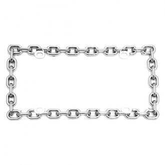 AutoLoc® - Chrome Chain License Plate Frame