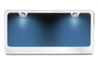 AutoLoc® - Chrome License Plate Frame with Illumination