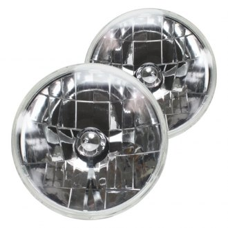 "AutoLoc® - 7"" Round Chrome Snake-Eye Euro Headlights"