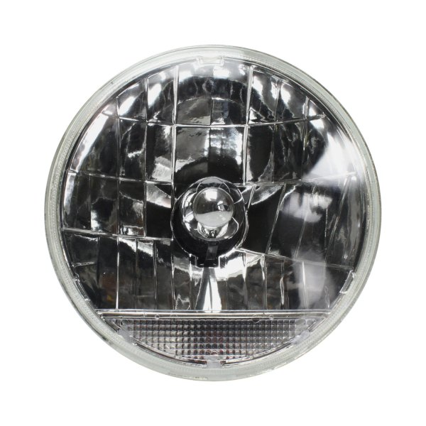 "AutoLoc® - 7"" Round Chrome Snake-Eye Euro Headlight with Turn Signal"