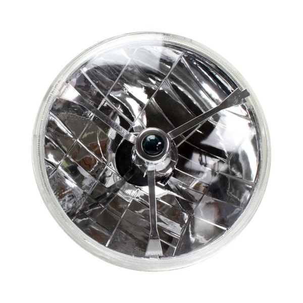 "AutoLoc® - 7"" Round Chrome Tri-Bar Euro Headlight"