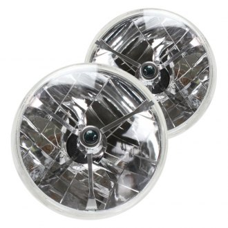 "AutoLoc® - 7"" Round Chrome Tri-Bar Euro Headlights"