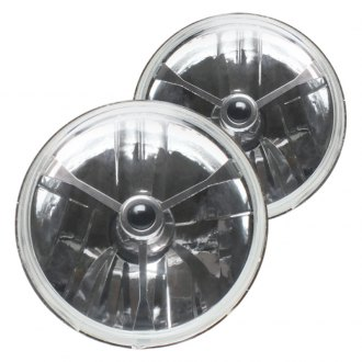 "AutoLoc® - 5 3/4"" Round Chrome Tri-Bar Euro Headlights"