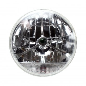 AutoLoc® - Mustang Euro Tribar Chrome Lens Assembly with Clear Turn Signal