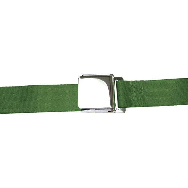 AutoLoc® - 2 Point Airplane Buckle Army Green Seat Belt