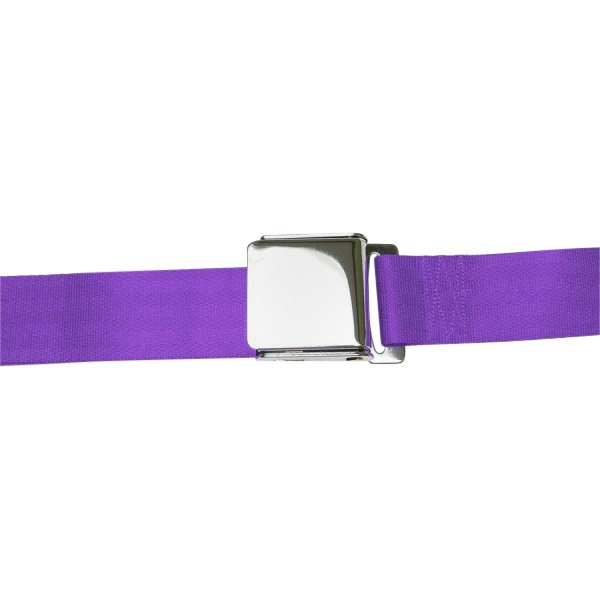 AutoLoc® - 2 Point  Airplane Buckle Seat Belt (Plum Purple)