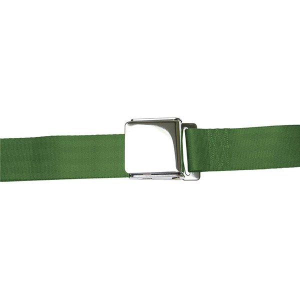 AutoLoc® - 2 Point Retractable Army Green Airplane Buckle Seat Belt