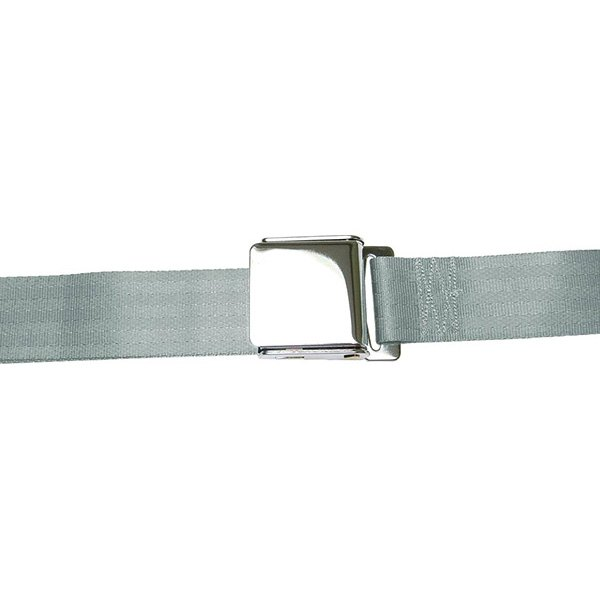 AutoLoc® - 2 Point Retractable Gray Airplane Buckle Seat Belt