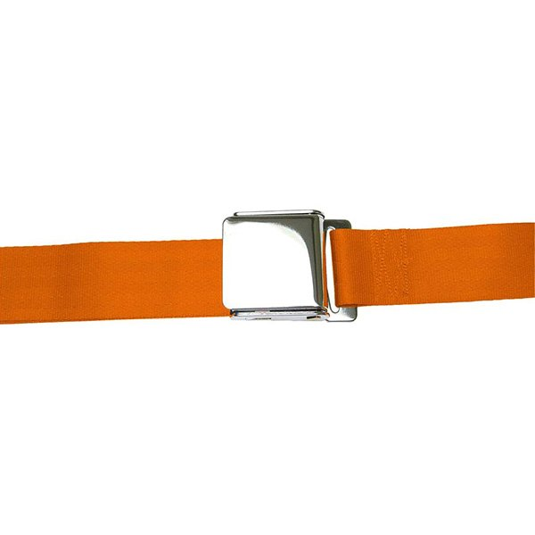 AutoLoc® - 2 Point Retractable Orange Airplane Buckle Seat Belt