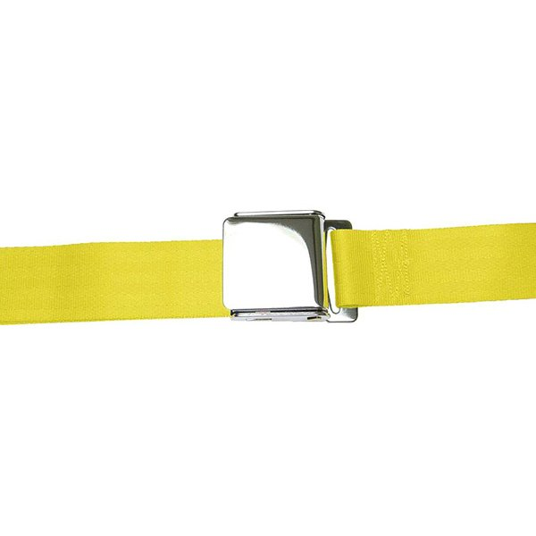 AutoLoc® - 2 Point Airplane Buckle Yellow Seat Belt
