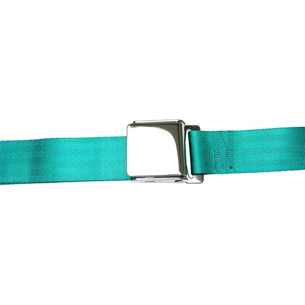 AutoLoc® - 3 Point Retractable Airplane Buckle Seat Belt (Aqua)