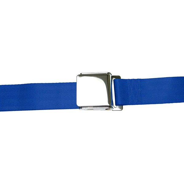 AutoLoc® - 3 Point Retractable Dark Blue Airplane Buckle Seat Belt