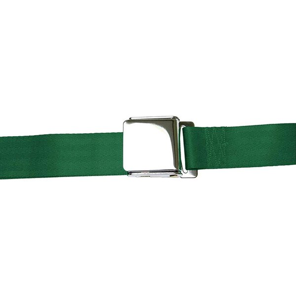 AutoLoc® - 3 Point Retractable Airplane Buckle Seat Belt (Dark Green)