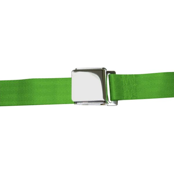 AutoLoc® - 3 Point Retractable Green Airplane Buckle Seat Belt