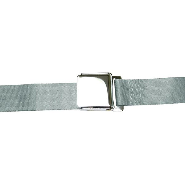 AutoLoc® - 3 Point Retractable Gray Airplane Buckle Seat Belt