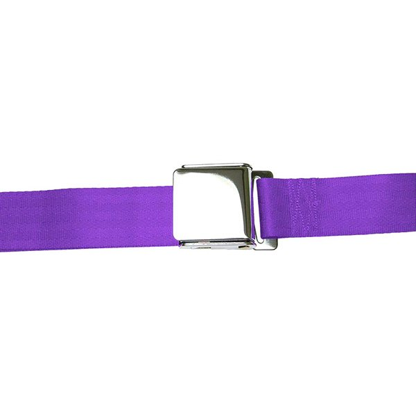 AutoLoc® - 3 Point Retractable Plum Purple Airplane Buckle Seat Belt