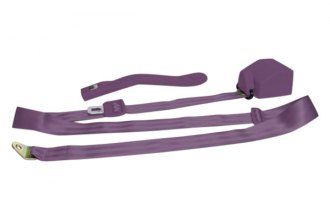 AutoLoc® SB3PRPL - 3 Point Retractable Plum Purple Seat Belt with Push Button