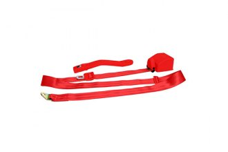 AutoLoc® SB3PRRD - 3 Point Retractable Red Seat Belt with Push Button