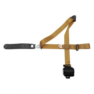 AutoLoc® - 3 Point Retractable Goldenrod Seat Belt with Push Button