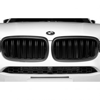 AutoTecknic® - 2-Pc Carbon Fiber Look Dual-Slat Billet Main Kidney Grilles