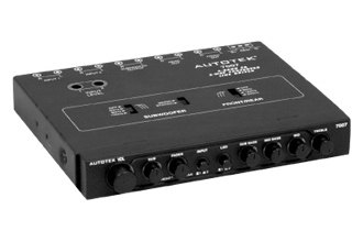 Autotek® - Half DIN 4-Band 2-Way Equalizer with Built-In Crossover