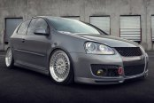AVANT GARDE® - M220 Silver with Machined Face and Lip on Volkswagen Golf