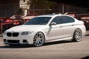 AVANT GARDE® - M310 Silver with Machined Face on BMW 5-Series