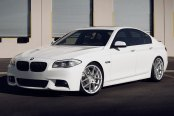 AVANT GARDE® - M510 Matte Silver with Machined Face on BMW 5-Series