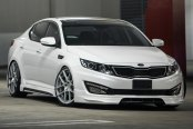AVANT GARDE® - M510 Matte Silver with Machined Face on Kia Optima