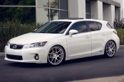 AVANT GARDE® - M510 Matte Silver with Machined Face on Lexus CT