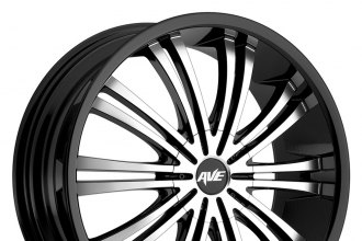 "AVENUE® - A601 Gloss Black with Machined Face (16"" x 7"", +40 Offset, 5x100 Bolt Pattern, 73mm Hub)"