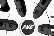 AVENUE® - A607 Gloss Black with Machined Face, Lip and Black Groove Close-Up