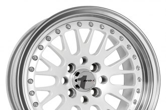 "AVID.1® - AV-12 White with Machined Lip (16"" x 8"", +25 Offset, 4x100 Bolt Pattern, 73.1mm Hub)"
