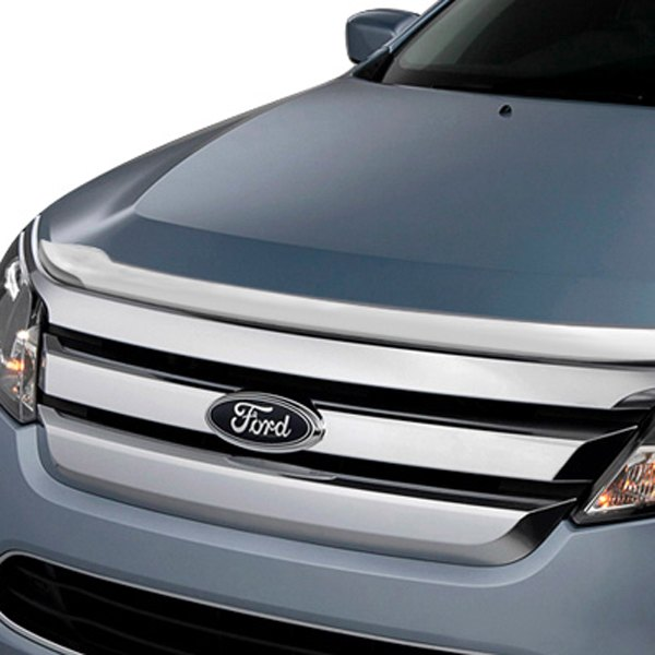Image may not reflect your exact vehicle! AVS® - Small Chrome Aeroskin™ Hood Shield