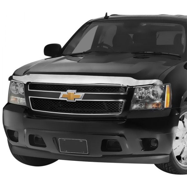 Image may not reflect your exact vehicle! AVS® - Chrome Hood Shield