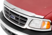 Image may not reflect your exact vehicle! AVS® - Large Chrome Aeroskin™ Hood Shield