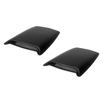 AVS® - Medium Black Hood Scoops (Unpainted)