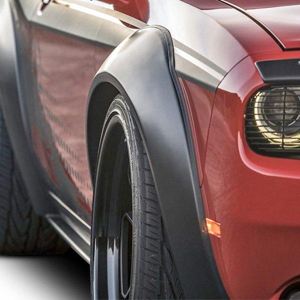 4-Piece for 2007-2018 Dodge Challenger Auto Ventshade 850250 Black Fender Flare Kit
