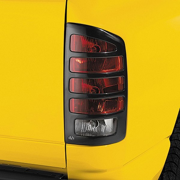 Image may not reflect your exact vehicle! AVS® - Slots™ Black Tail Light Covers