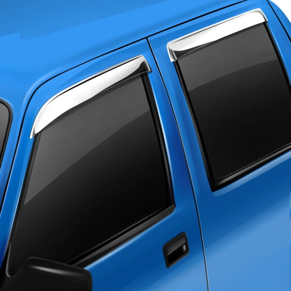Image may not reflect your exact vehicle! AVS® - Tape-On Ventshade™ Stainless Steel Window Deflectors