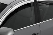 Image may not reflect your exact vehicle! AVS® - Tape-On Standard Ventvisor™ Chrome Window Deflectors