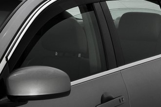 AVS® - Smoke Chrome Trim Low Profile Ventvisor™ Window Deflectors